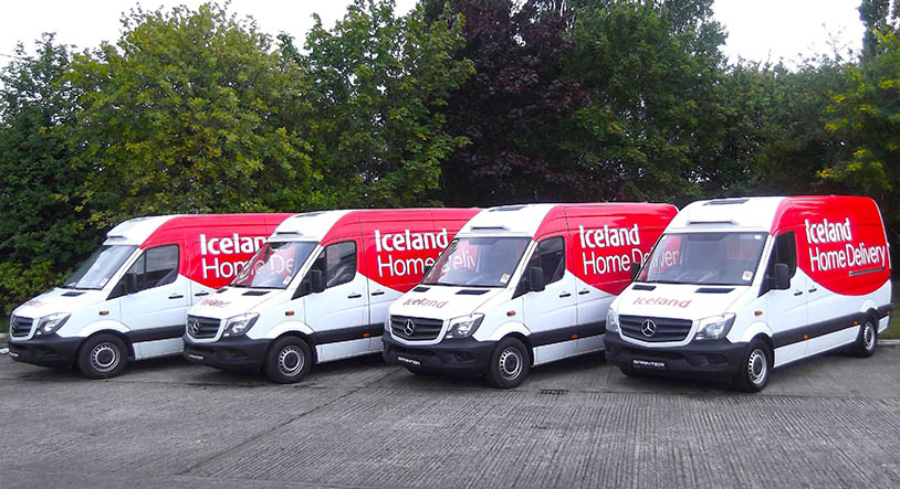 a49743a736 Supermarket chain Iceland has taken delivery of four additional new Mercedes -Benz Sprinter vans that have entered their fleet alongside their original  ...